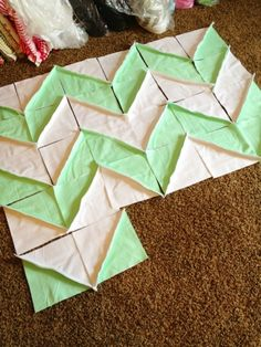 A Vision to Remember All Things Handmade Blog: Its a Work in Progress! Chevron Rag Quily
