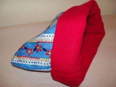 "Blue Flowers XL Guinea Pig Pouch Bag Cozy Bed Snuggle Ferret Sleep 11"" x 11'' #GuineaPigParadise"