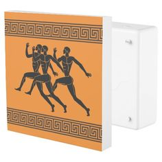 Greek Athletes Runners Orange Outlet Cover