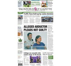 The front page of the Taunton Daily Gazette for Wednesday, Oct. 8, 2014.
