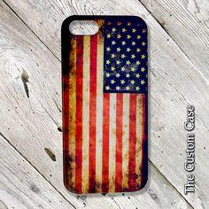 Grunge American Flag Phone Case, Patriotic Phone Case, Distressed Flag Iphone Case, Iphone 4/5/5c/6/6+, Samsung Galaxy S3/S4/S5/S6/S6 Edge