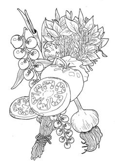 I am becoming so obsessed with food illustration. This is some wonderful inspiration from definatalie (Natalie Perkins) that has me wanting to grab some pens out and start drawing!