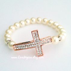 Jayne Cross Bracelet by LoveMyssa on Etsy