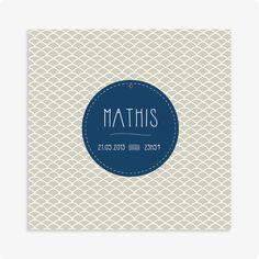 Faire-Part naissance motif, beige