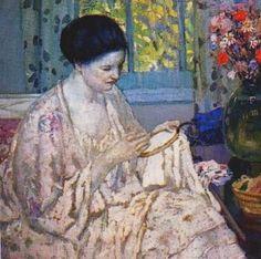 Frederick Carl, Carl Frieseke, Art Sewing, D Aiguille Art, 18741939, American Artists, Needlework Art, Travaux D Aiguille, Frieseke American