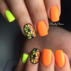 #лето #ногти #летний_маникюр #яркий #nail #nail_art #summer_nail #summer