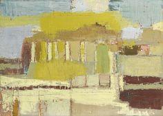 blastedheath:  Nicolas de Staël (French, born Russia, 1914-1955), Temple sicilien, 1953. Oil on canvas, 73 x 100cm.