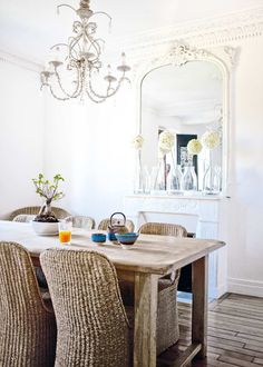 the natural splendor of a french family dining room / style files