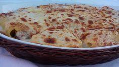 Pasta al forno (paccheri) con radicchio e pancetta