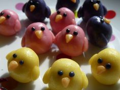 marzipan chicks - easter 2011