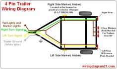 standard 4 pole trailer light wiring diagram automotive rh pinterest com