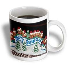 $14.99 A Sign That Says, Merry Christmas Surrounded by Bears in Red Santa Hats and Pine Trees in Ceramic - 15oz Mug  From 3dRose   Get it here: http://astore.amazon.com/ffiilliipp-20/detail/B0088PC8OA/179-7584752-6495908