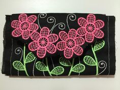 unfinished embroidered purse
