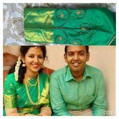 #southindianwedding #weddingblouse #handembroidery #kanchipuramsilksaree
