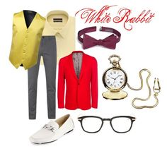 """White Rabbit"" by kaycupcake ❤ liked on Polyvore featuring Geoffrey Beene, BOSS Orange, Paul Smith, Donald J Pliner, Calibrate, Thom Browne, men's fashion, menswear i disneybound"