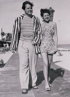 Rita Hayworth & Orson Welles, Miami Florida 1944 via theredlist