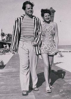 Orson Welles & Rita Hayworth in Miami, 1944