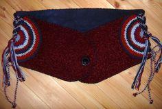 Stoffgürtel - Winter-Hippie-Hüftgürtel Nr.01, bordeau-blau - ein Designerstück von Majoni bei DaWanda