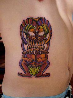Tiki tattoo done by Dan at Tattoolicious_Hawaii