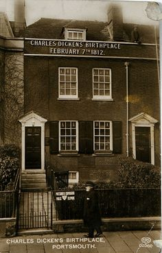 Charles Dickens birthplace - Portsmouth, England