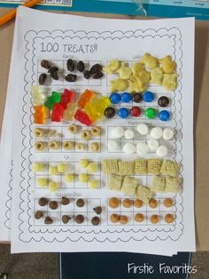 100 treats for the 100th day of school! Check out more 100th day of school ideas in this blog post!