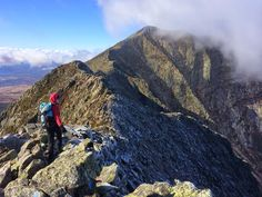 Hiking the Knife Edge on Mt. Katahdin in Maine's Baxter State Park.