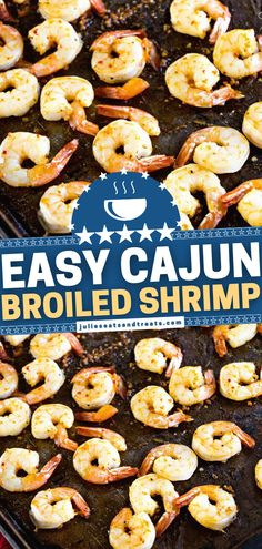 Look no further than the perfect Mardi Gras food! Not only is this Cajun Broiled Shrimp Recipe quick and easy to make, but it is also light and healthy. Plus, it is fancy and delicious enough for a party appetizer! What are you waiting for? Put this on your dinner menu! Broiled Shrimp, Easy Main Dish Recipes, Mardi Gras Food, Seafood Dishes, Dinner Menu, Appetizers For Party, Shrimp Recipes, Quick Meals, Main Dishes