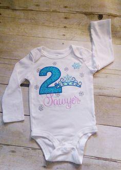 Birthday top/shirt Frozen theme birthday tshirt by MommaMays