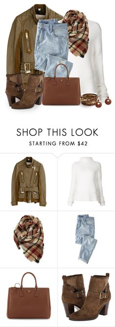 """""""Ripped Jeans"""" by terry-tlc ❤ liked on Polyvore featuring Burberry, Haider Ackermann, Evelyn K, Wrap, Prada, women's clothing, women's fashion, women, female and woman"""