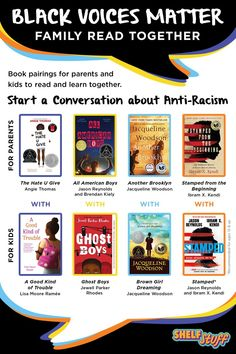 Start a conversation in your family about anti-racism—what it is, what it looks like, and how to act in an anti-racist manner—with these paired books for kids and adults. Good Books, Books To Read, My Books, Books By Black Authors, 6th Grade Ela, Anti Racism, History Books, Read Aloud, Book Recommendations