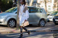 Michelle Elie Street Style Street Fashion Streetsnaps by STYLEDUMONDE Street Style Fashion Photography