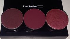 L-R: Sketch, Deep Damson and Cranberry all from MAC Cosmetics.