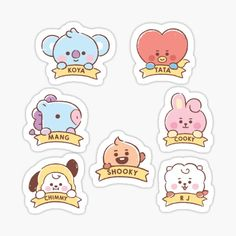 Pop Stickers, Tumblr Stickers, Printable Stickers, Journal Stickers, Planner Stickers, Bts Book, Korean Stickers, Kpop Diy, Bts Drawings