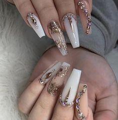 Baby m Short Nail Designs, Gel Nail Art Designs, Bling Nails, Prom Nails, Nails 2018, Coffin Nails, Perfect Nails, Pretty Nails, Gorgeous Nails