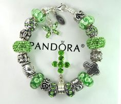 Authentic Pandora Silver Charm Bracelet with European Charms Butterfly cross  #Pandoralobsterclaspclaw #European