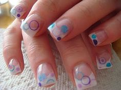 45 Simple Cute Nail art Ideas For Beginners - VIs-Wed Acrylic Nail Art, Acrylic Nail Designs, Cute Nail Art, Cute Nails, August Nails, Bubble Nails, Nail Art For Beginners, Nail Effects, Best Nail Art Designs