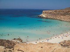 Las mejores playas de Sicilia: Spiaggia dei Conigli, Lampedusa