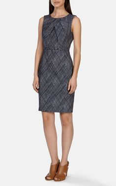 Cross Hatch Jacquard Pencil Dress
