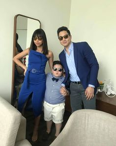 My squad, my labss❤👶👩👦❤ Maine Mendoza, Alden Richards, Prom Dresses, Formal Dresses, Taeyong, Suits, Celebrities, Squad, Internet