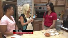 """Smoothie King is celebrating fall with a new Pumpkin Spice flavor, and Lisa Hart is ready to order with her Smoothing King mobile app. Smoothie King """"Blendologist"""" shares the """"at-home"""" version of t. Lisa Hart, Pumpkin Smoothie, Smoothie King, Pumpkin Spice, Mobile App, Celebrities, Fall, Autumn, Celebrity"""