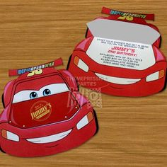 Cars rayo mcqueen invitacion Ideas for 2019 Auto Party, Race Car Party, Cars Invitation, Disney Invitations, Disney Cars Party, Disney Cars Birthday, Car Themed Parties, Cars Birthday Parties, Lightning Mcqueen Party