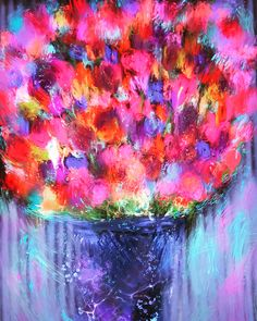 Abstract flowers-by Jill Marie Greenhill on Etsy