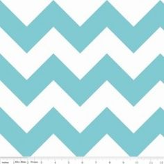 Riley Blake Designs Large Chevron in Aqua. Pattern measures point to point. PLEASE NOTE:The Chevron is printed the length of the fabric which is parallel to the selvage. Aqua Blue, Chevrons, Aqua Fabric, Chevron Fabric, Aqua Quilt, Mint, Fabric Remnants, Riley Blake, Living Room