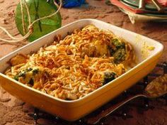 Add something tasty to your family's dinner tonight! Serve this casserole made with chicken breasts, broccoli spears and water chestnuts.