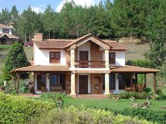 Fachadas de Casas de Campo #fachadasdecasasdecampo
