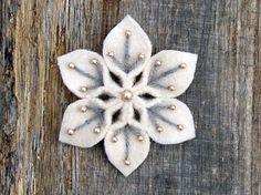 Yarn/Felt/Bead Snowflakes by Jody Bishel on Flickr
