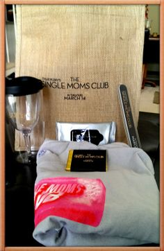 Although, I have not seen the movie yet, yesterday I was pleasantly surprised when I received a Single Moms Club survival kit on behalf of the film.  How did they know I needed this?  The kit included a nice bag, tumbler that looks like a wine glass is inside, nail file, wipes, a tee shirt and chocolate.