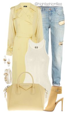 """""""Is spring here?"""" by highfashionfiles ❤ liked on Polyvore featuring H&M, DKNY, Rick Owens, Givenchy, Gianvito Rossi, Brooks Brothers, Kendra Scott, women's clothing, women and female"""
