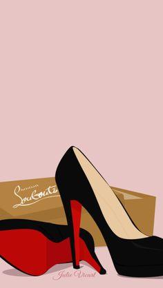 Louboutin Fashion Chic iPhone Wallpaper Lock Screen @PanPins