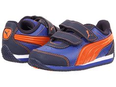 f28d7b75c010 Puma kids speed light up v toddler little kid big kid peacoat vermillion  orange surf the